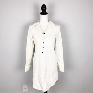Haute Hippie Cream Denim Long Sleeve Dress